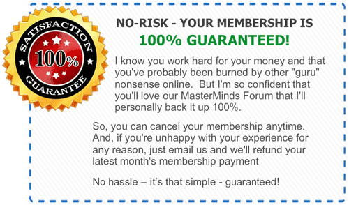 MasterMinds 100% Guarantee