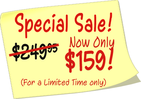 $159 Special Sale Price!