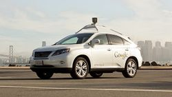 Self driving Google Lexus