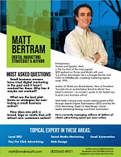 Matt Bertram One Sheet